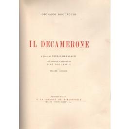 IL DECAMERONE di G. Boccaccio con 101 tavole a colori di Gino Boccasile